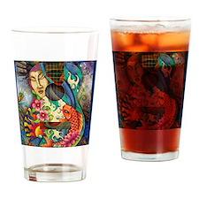 Buddha, Koi, Lotus, Guitar Drinking Glass