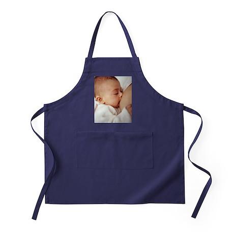 Baby girl breastfeeding Apron (dark)