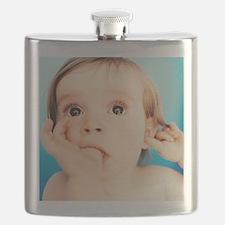 Baby girl sucking thumb Flask