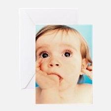 Baby girl sucking thumb Greeting Card