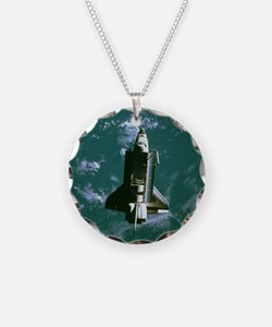 Space shuttle Challenger orb Necklace