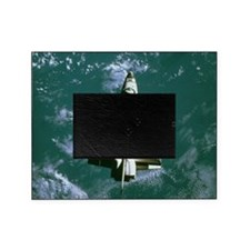 Space shuttle Challenger orbiting ea Picture Frame