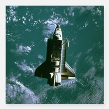 """Space shuttle Challenger Square Car Magnet 3"""" x 3"""""""