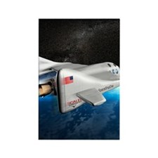 SpaceShipOne above Earth Rectangle Magnet