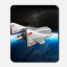 SpaceShipOne above Earth Mousepad