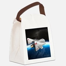 SpaceShipOne above Earth Canvas Lunch Bag