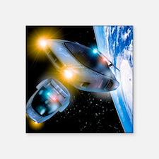 "Space tourism Square Sticker 3"" x 3"""