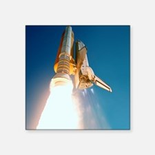 "Space Shuttle launch Square Sticker 3"" x 3"""