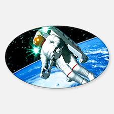 Space walk Sticker (Oval)