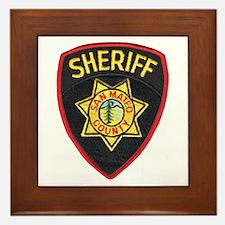 San Mateo Sheriff Framed Tile