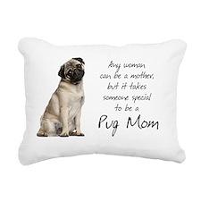 Pug Mom Rectangular Canvas Pillow