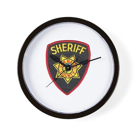 San Mateo Sheriff Wall Clock
