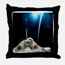 Spacelab SLS-1 view with light reflec Throw Pillow