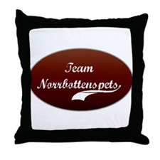 Team Norrbottenspets Throw Pillow