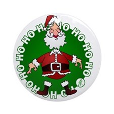 Santa Claus Round Ornament