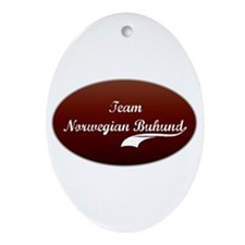 Team Buhund Oval Ornament
