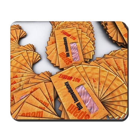 Spam junk mail, computer artwork Mousepad