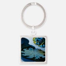 Blood glucose tester Square Keychain