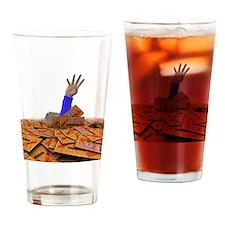Spam junk mail, computer artwork Drinking Glass