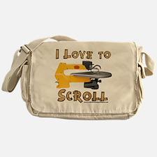 I Love to scroll Messenger Bag