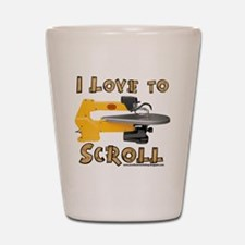 I Love to scroll Shot Glass