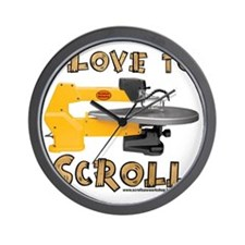 I Love to scroll Wall Clock