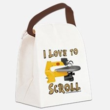 I Love to scroll Canvas Lunch Bag