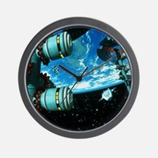 Space stations Wall Clock