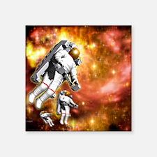 "Space walk Square Sticker 3"" x 3"""