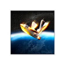 "SpaceShipOne re-entry Square Sticker 3"" x 3"""