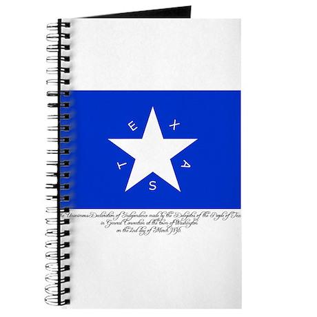 Texas Flag with Declaration Journal