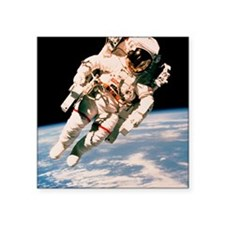 "Spacewalk Square Sticker 3"" x 3"""