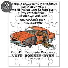 Vote For Economic Recovery Puzzle