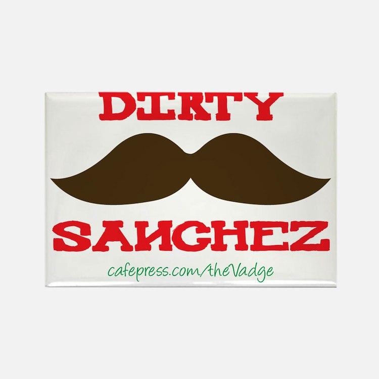 Dirty Sanchez - The Vadge Rectangle Magnet