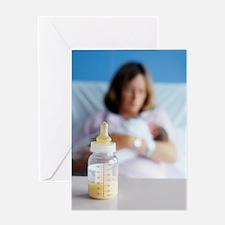 Bottle of breast milk Greeting Card