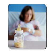 Bottle of breast milk Mousepad