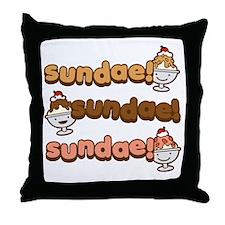 Sundae Sundae Sundae Throw Pillow