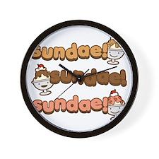 Sundae Sundae Sundae Wall Clock