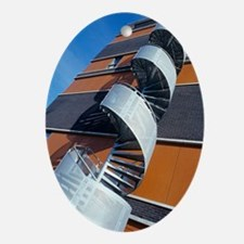 Spiral staircase Oval Ornament