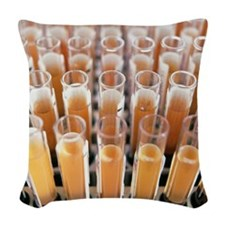 Blood samples Woven Throw Pillow