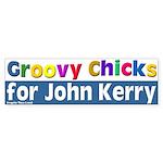 Groovy Chicks for Kerry Bumper Sticker