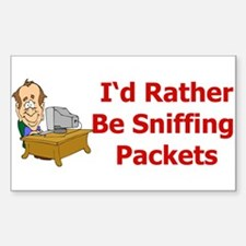 Sniffing Packets Rectangle Decal