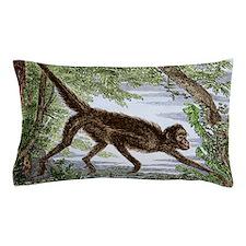 Spider monkey, historical artwork Pillow Case