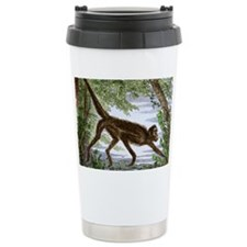 Spider monkey, historical artwo Travel Mug