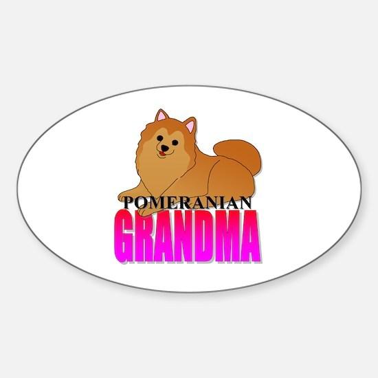 Pomeranian Grandma Sticker (Oval)