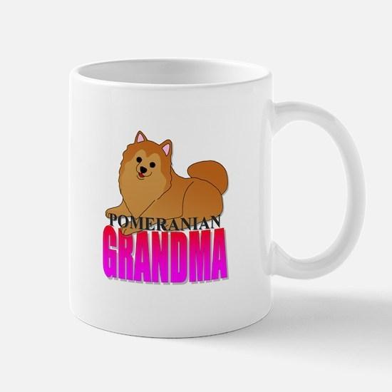 Orange Pomeranian Grandma Mug