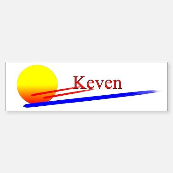 Keven Bumper Car Car Sticker