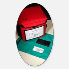 Blood transport case Sticker (Oval)