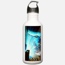 Sparks flying from an  Water Bottle