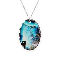 Sparks flying from an argon we Necklace